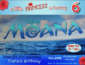 Copy of Moana Birthday Invitation Template