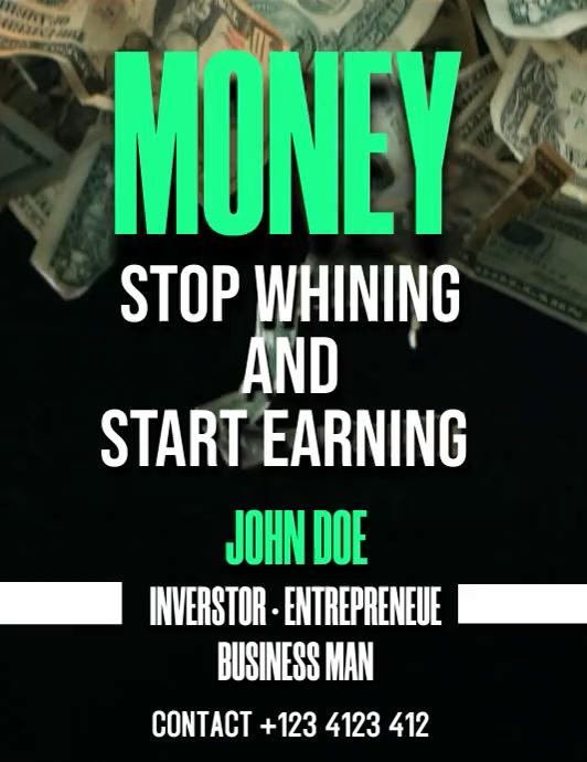money 传单(美国信函) template