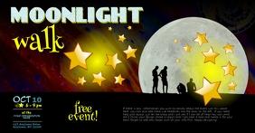 Moonlight Twilight Walk Event Flyer T Sampul Acara Facebook template