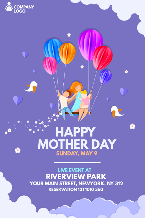 Mother's Day Banner Design template