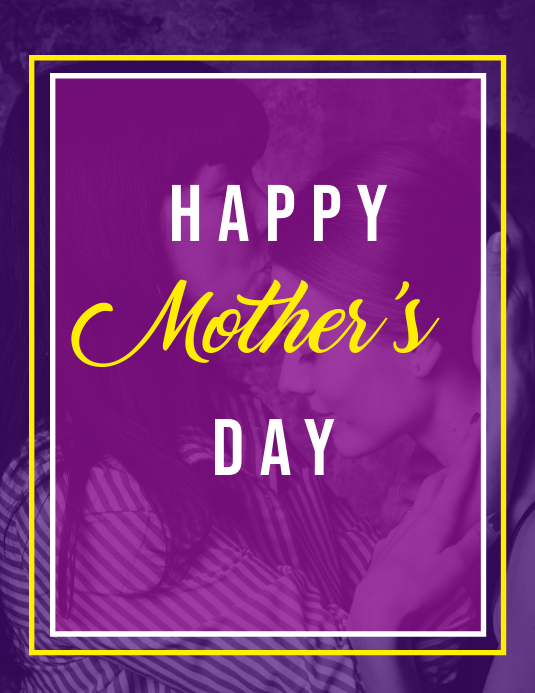 Mother's Day Ulotka (US Letter) template
