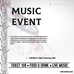 Copy of music event Instagram Template