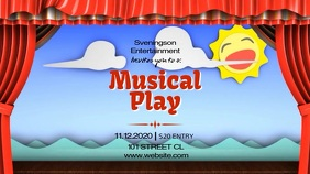 MUSICAL PLAY VIDEO AD TEMPLATE Pantalla Digital (16:9)
