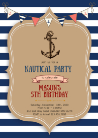 Copy of Nautical birthday party invitation