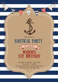 Copy of Nautical birthday party invitation