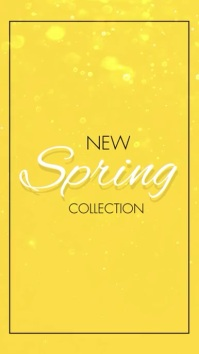 New Spring Collection Vertical Video Digitalt display (9:16) template