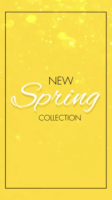 New Spring Collection Vertical Video Tampilan Digital (9:16) template