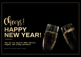 New year wishes Cheers! Video Templat