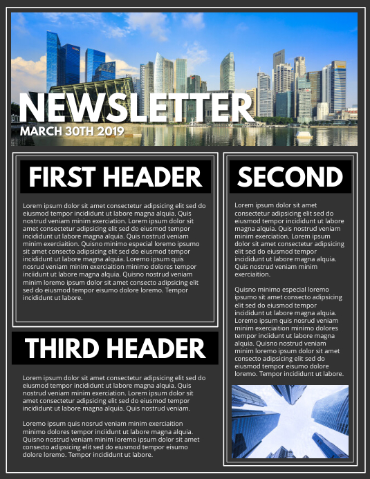 NEWSLETTER Flyer (US-Letter) template