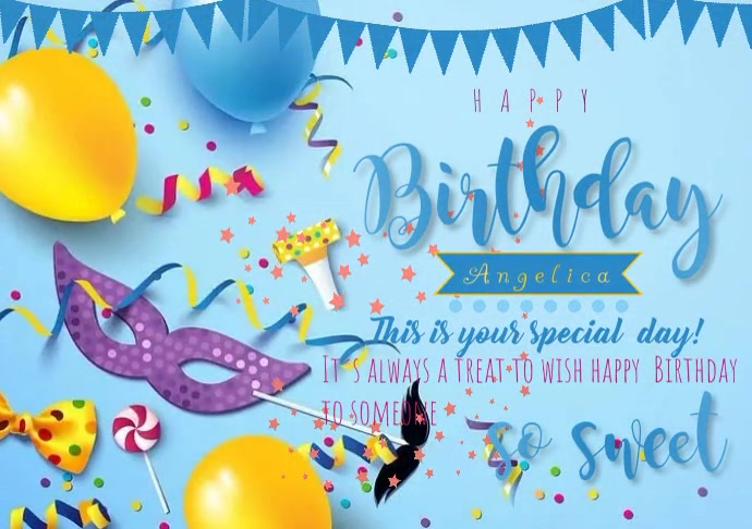 of flyer template happy birthday A4