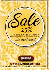 of flyer template happy season sale a A4