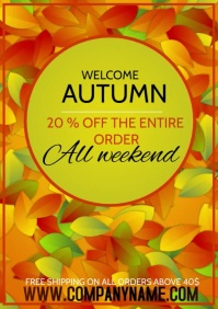 of template flyers autumn sale A4