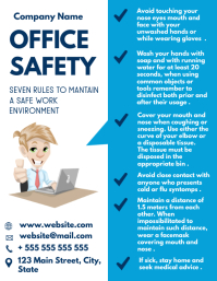 office safety flyer design template