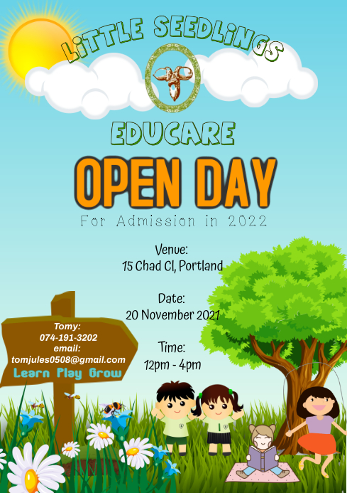 Open Day A4 template