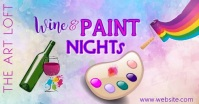 Paint Night FB Video Facebook Shared Image template