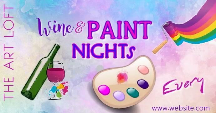 Paint Night FB Video Gambar Bersama Facebook template