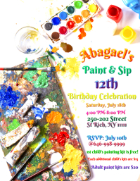 Paint Party Flyer (US-Letter) template