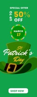 Patrick's Day Sale Half Page Letter template