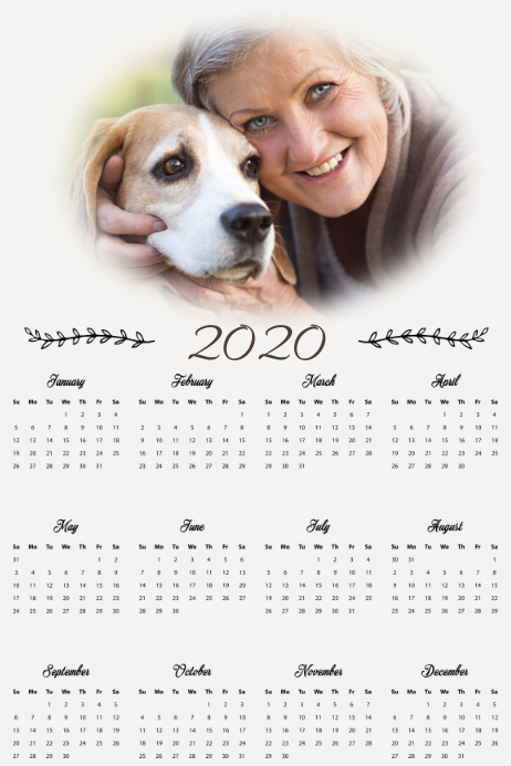 Copy of Photo Calendar Template