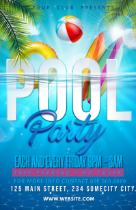 pool party Half Page Wide template