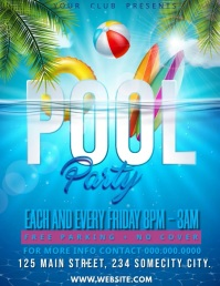 pool party Folder (US Letter) template
