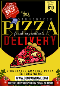 poster flyer templates pizza A4