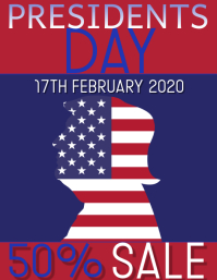 PRESIDENTS DAY Flyer (US-Letter) template