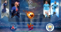PSG VS Manchester city Facebook Shared Image template