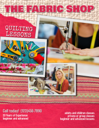 Copy of quilting Lessons Instruction Flyer te