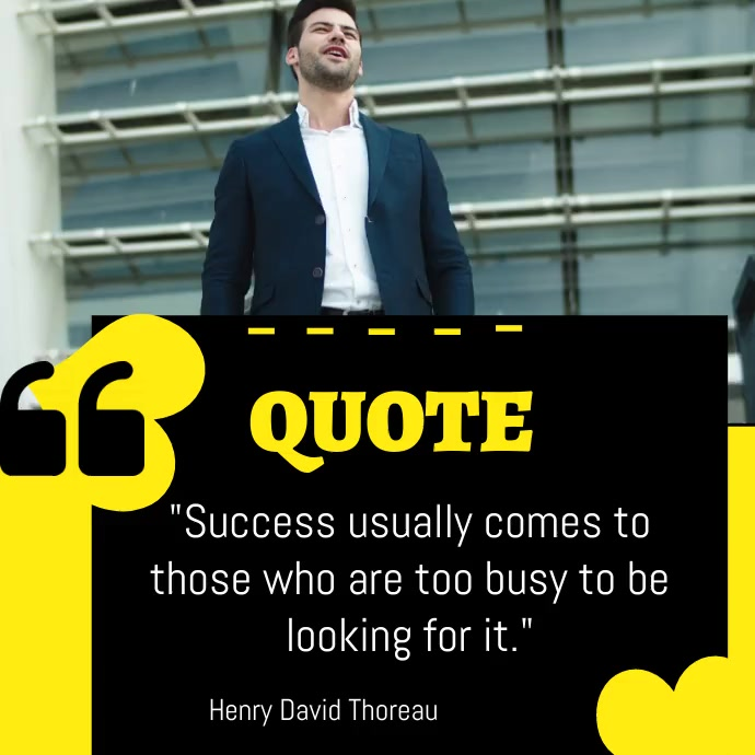 QUOTE For Success Instagram Post template