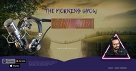 radio interview late nigh show Facebook Shared Image template