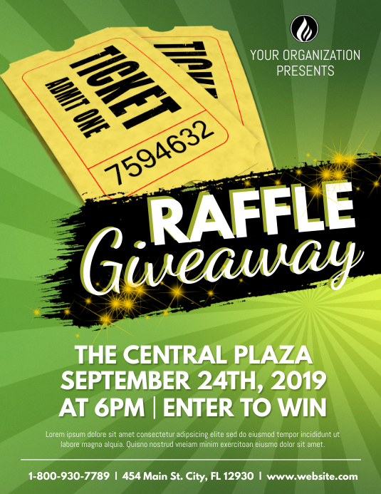 Raffle Giveaway Flyer (US-Letter) template
