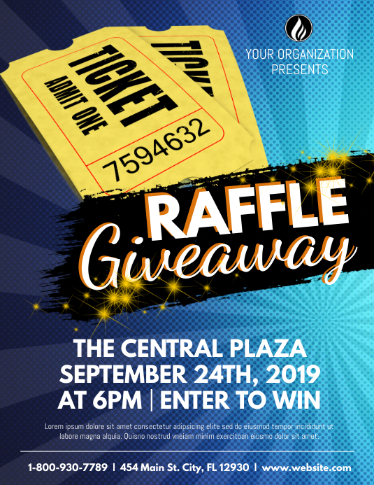 Raffle Giveaway Flyer (Letter pang-US) template