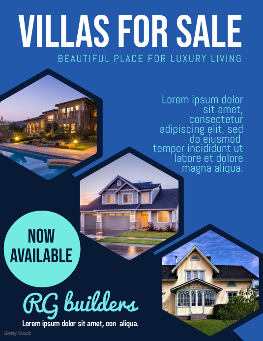 real estate ใบปลิว (US Letter) template
