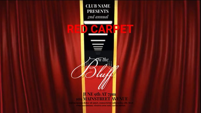 RED CARPET EVENT VIDEO AD TEMPLATE Digital na Display (16:9)