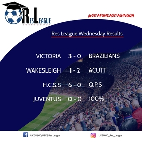 Res League Weekly Results Template Publicación de Instagram