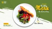 Restaurant ads Facebook Cover Video (16:9) template