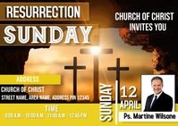Resurrection day Postal template