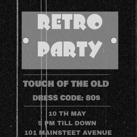 RETRO PARTY VIDEO Square (1:1) template