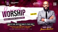 Revival worship flyer Twitch Banner template