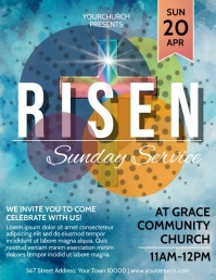 Risen Flyer (US Letter) template