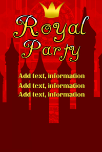 Copy of Royal Party - red with crown