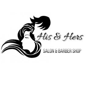 SALON BARBER SHOP Logo template
