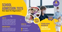 School Admission flyer Template Facebook-annonce