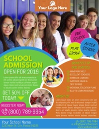 School Flyer (US Letter) template