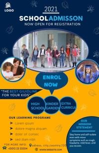SCHOOL POSTER Media Página Ancho template