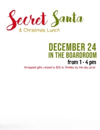 Secret Santa Flyer (US Letter) template