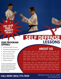 Self Defense Flyer (US Letter) template