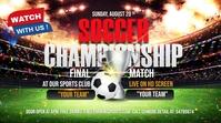 soccer match flyer YouTube Thumbnail template