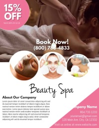 Spa Flyer (US Letter) template